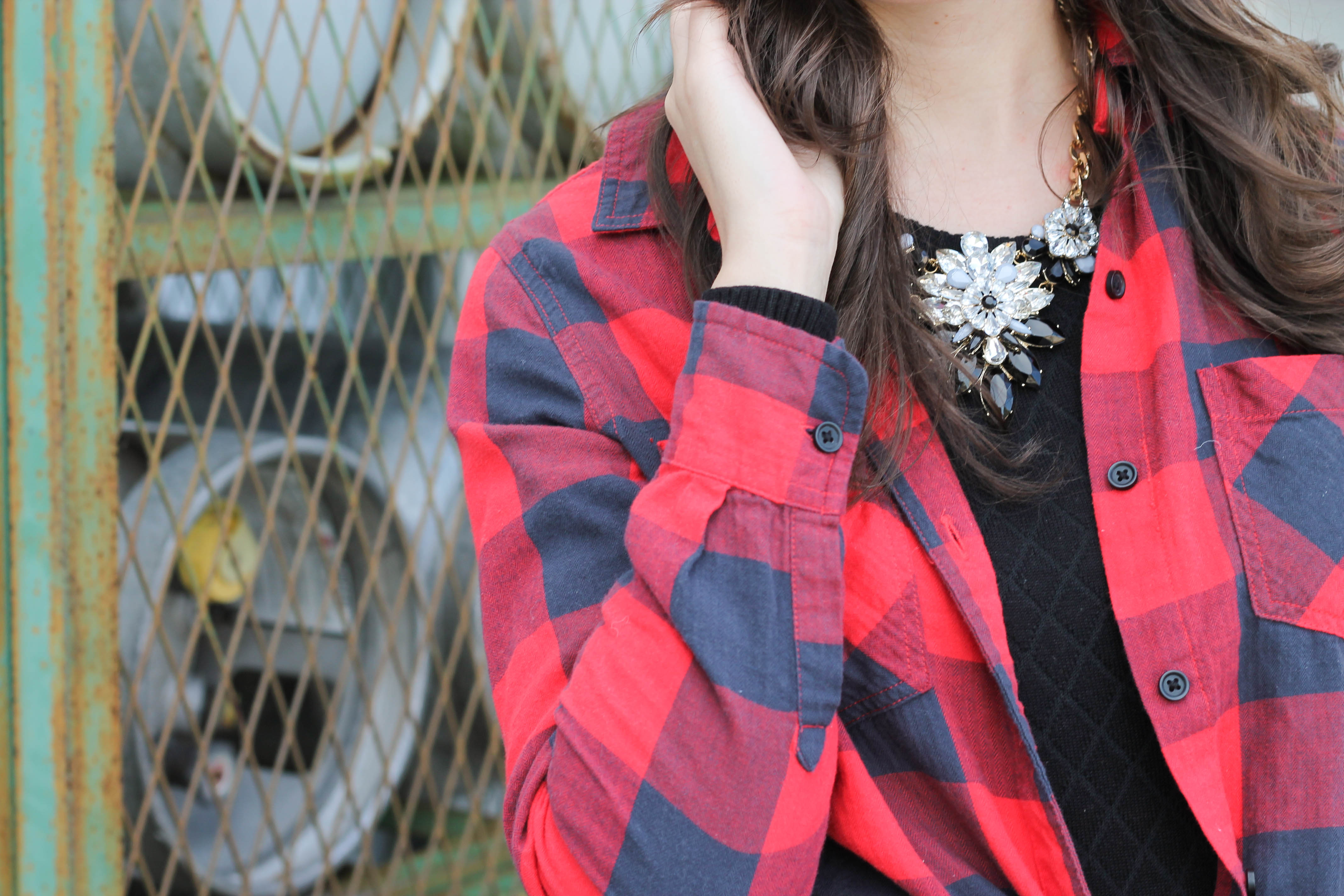 2015-12-06 13.29.59 - Holiday Glam + Buffalo Red Plaid Shirt by New York fashion blogger
