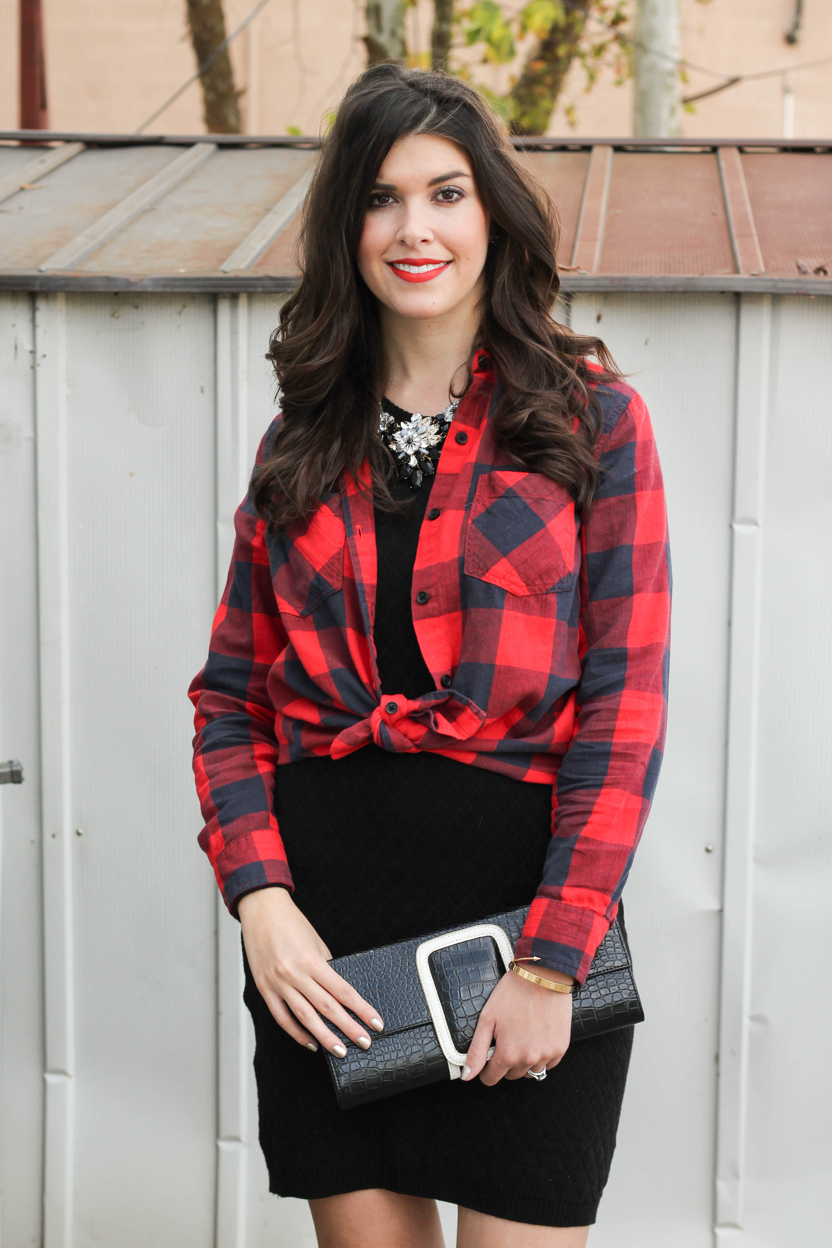 2015-12-06 13.30.23  Holiday Glam + Buffalo Red Plaid Shirt by New York fashion blogger