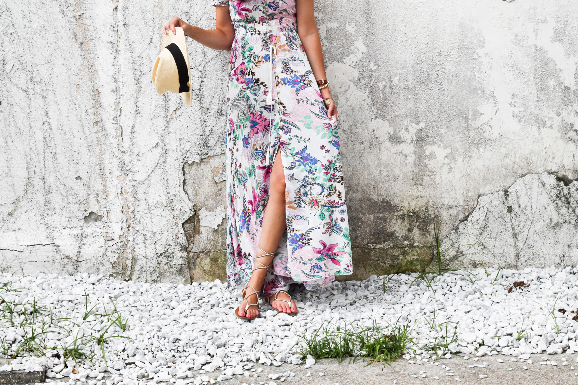Short Sleeve floral maxi dress - Floral Maxi Dress Perfection by New Orleans fashion blogger Style Waltz