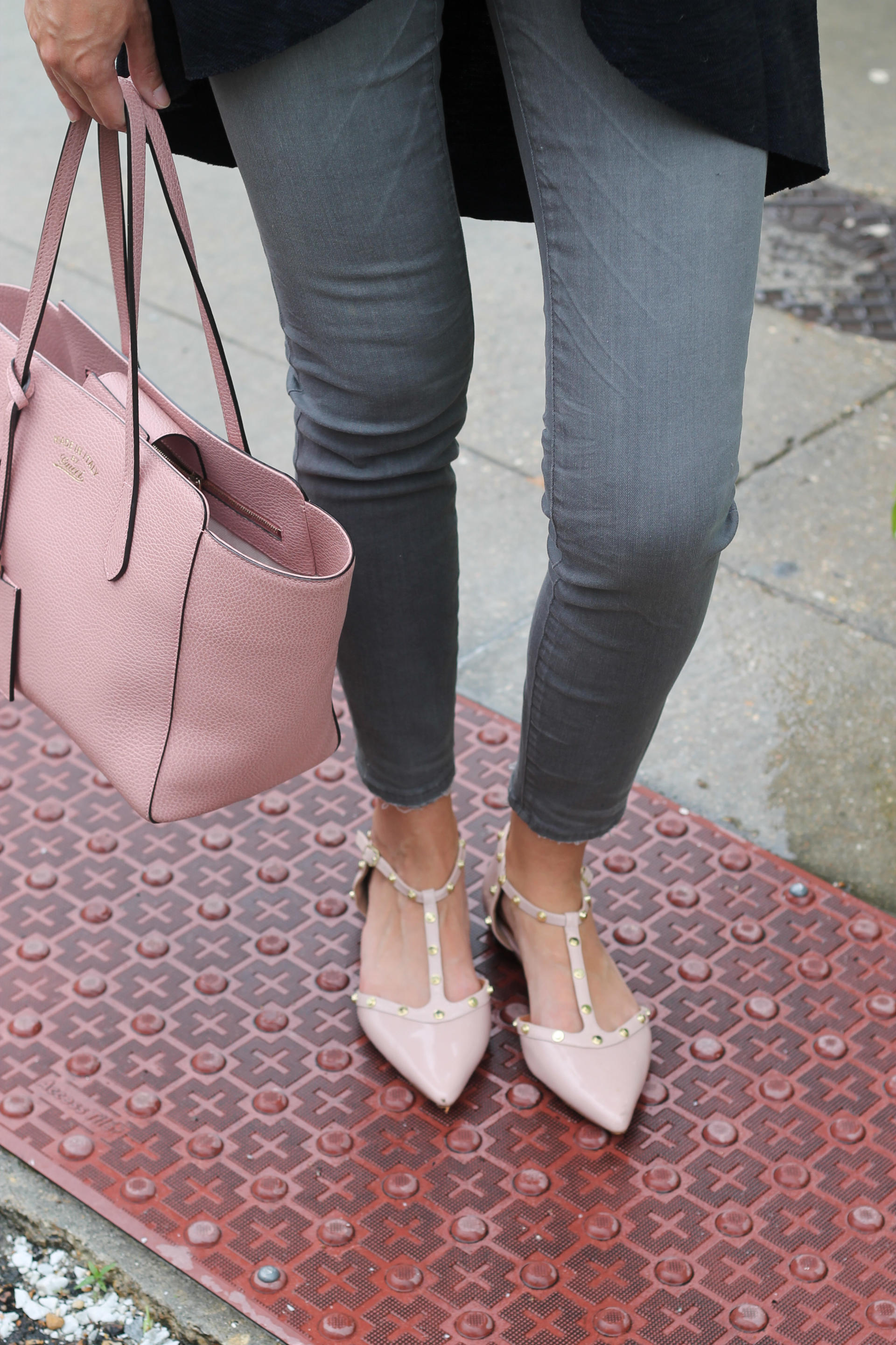 Blush Tote and Blush Shoes