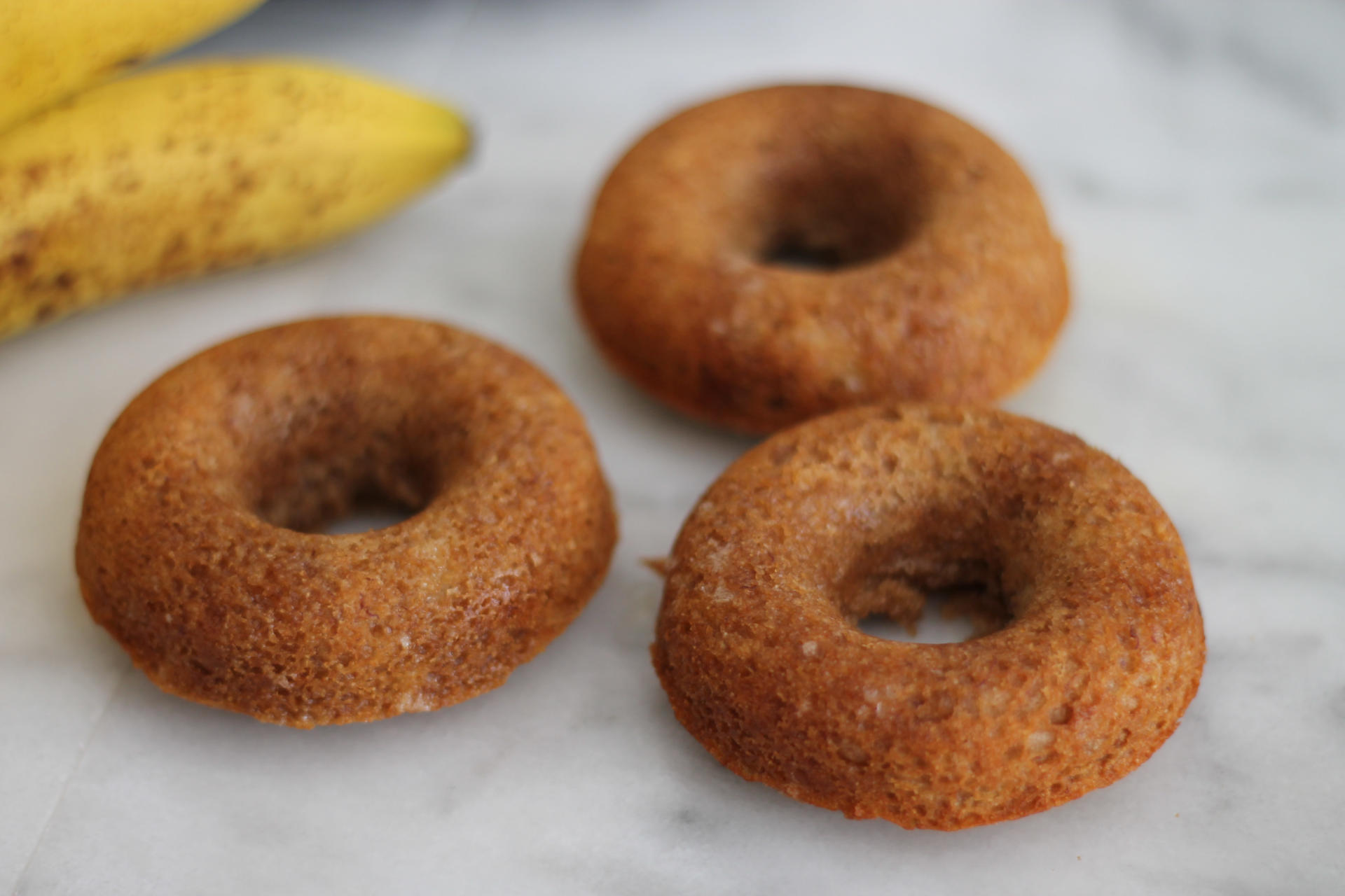 Healthy Baked Banana Doughnuts