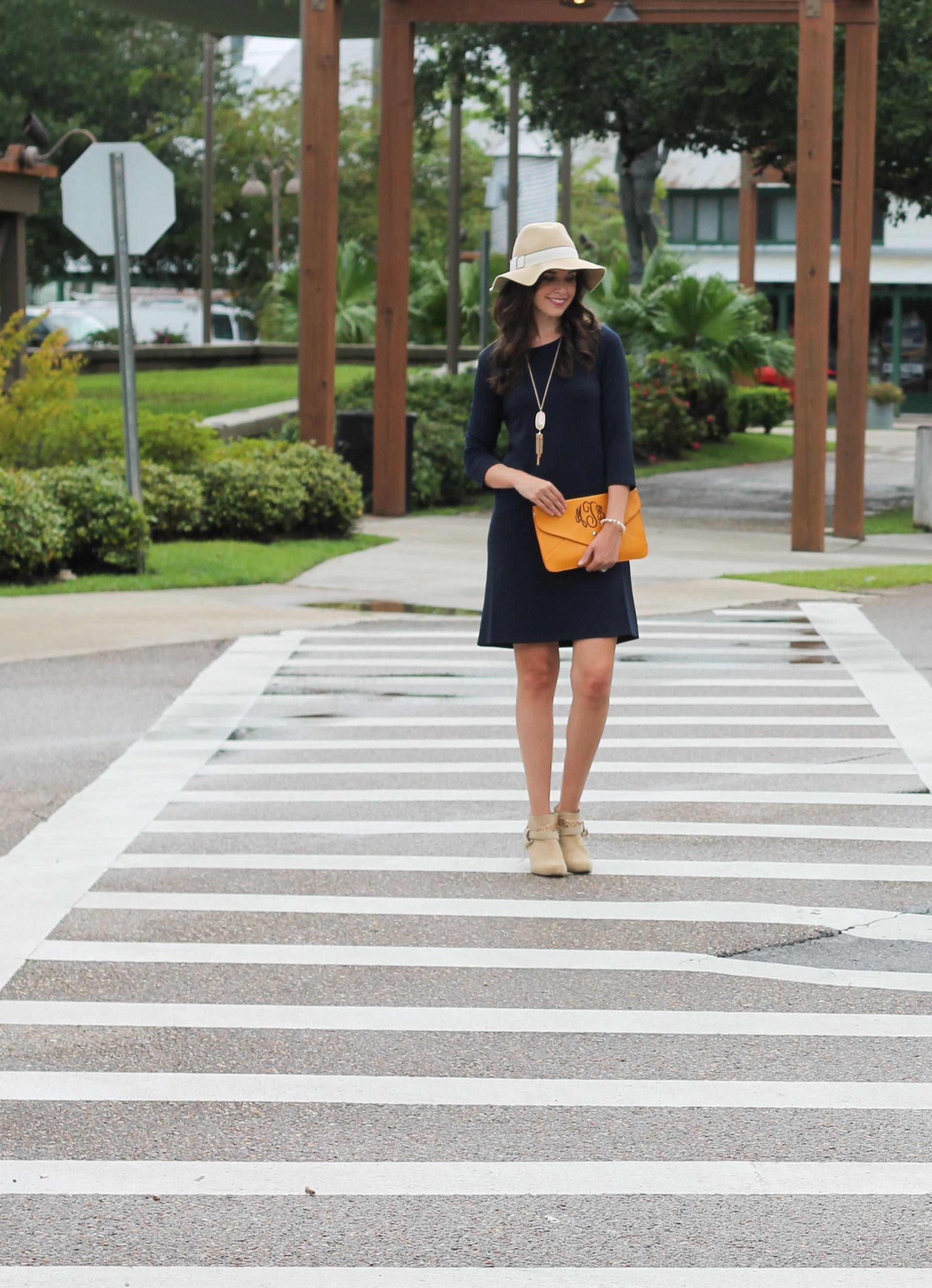 Fall's Navy Shift Dress