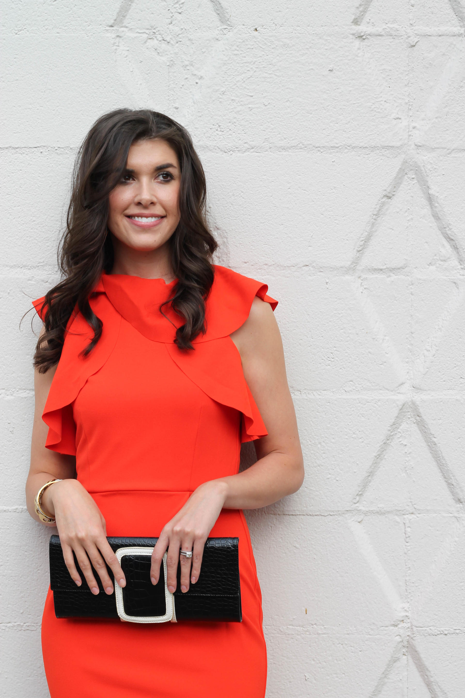 Ruffles - A Red Ruffle Dress for Christmas by New York fashion blogger Style Waltz
