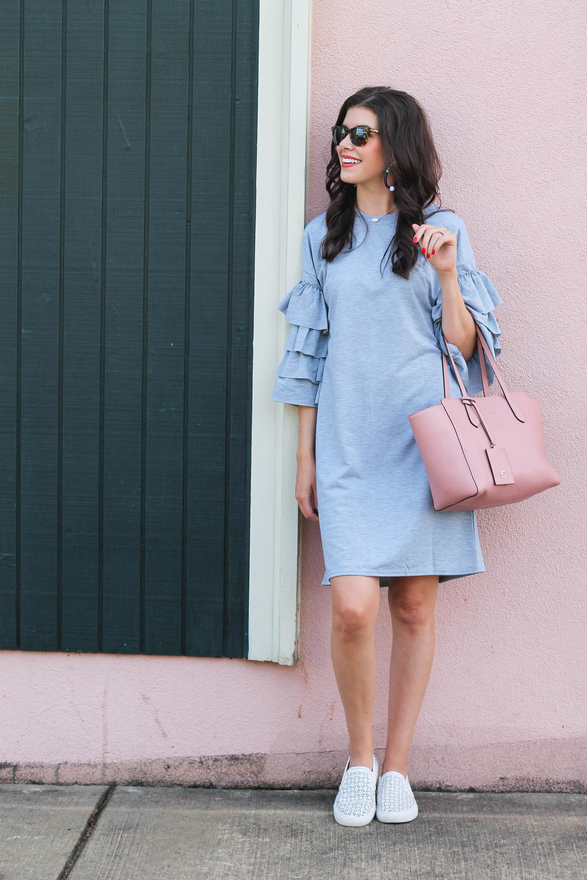 377f74df12a Ruffled Sleeve Dress - Spring Ruffle Sleeve Dress by New York fashion  blogger Style Waltz ...