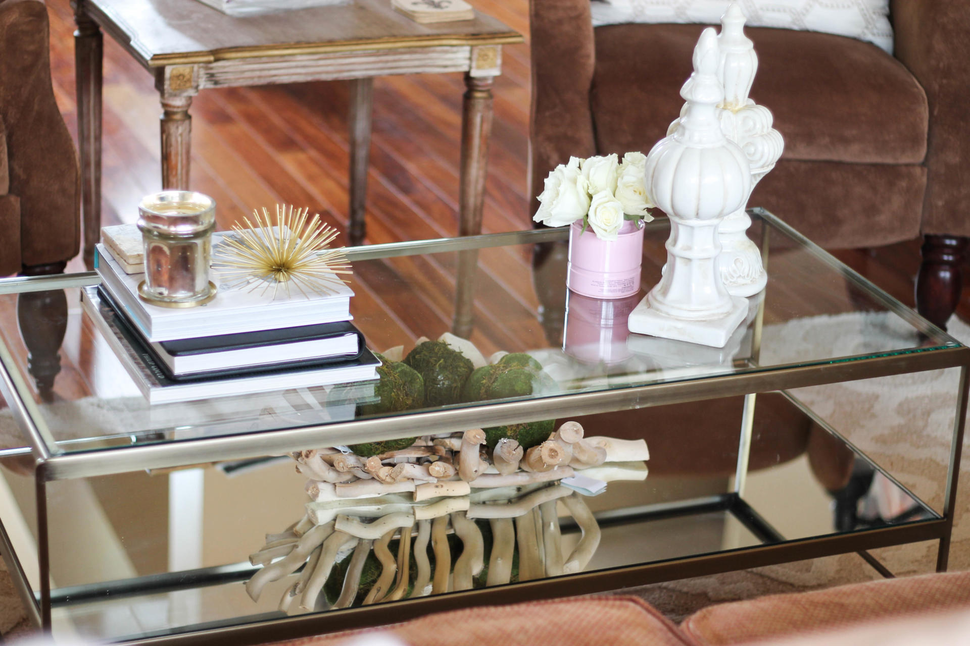 Styling a Glass Coffee Table