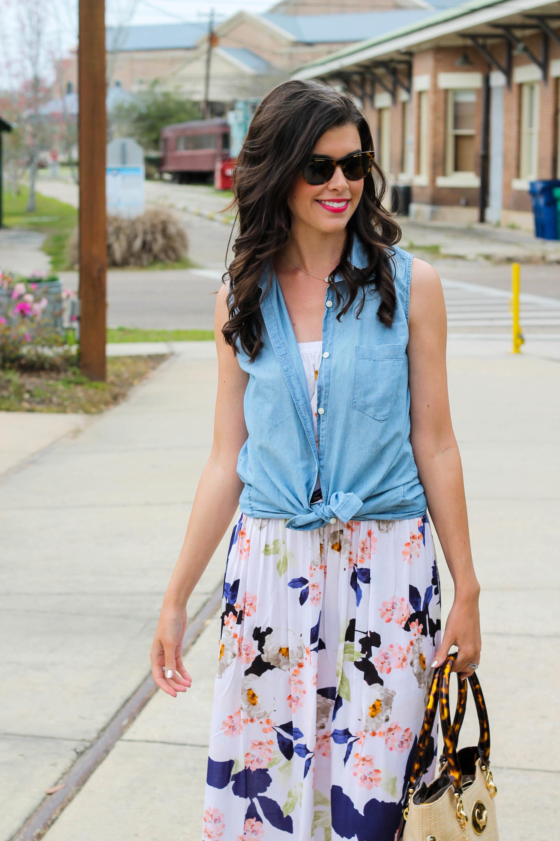 Floral Maxi Dress For Spring