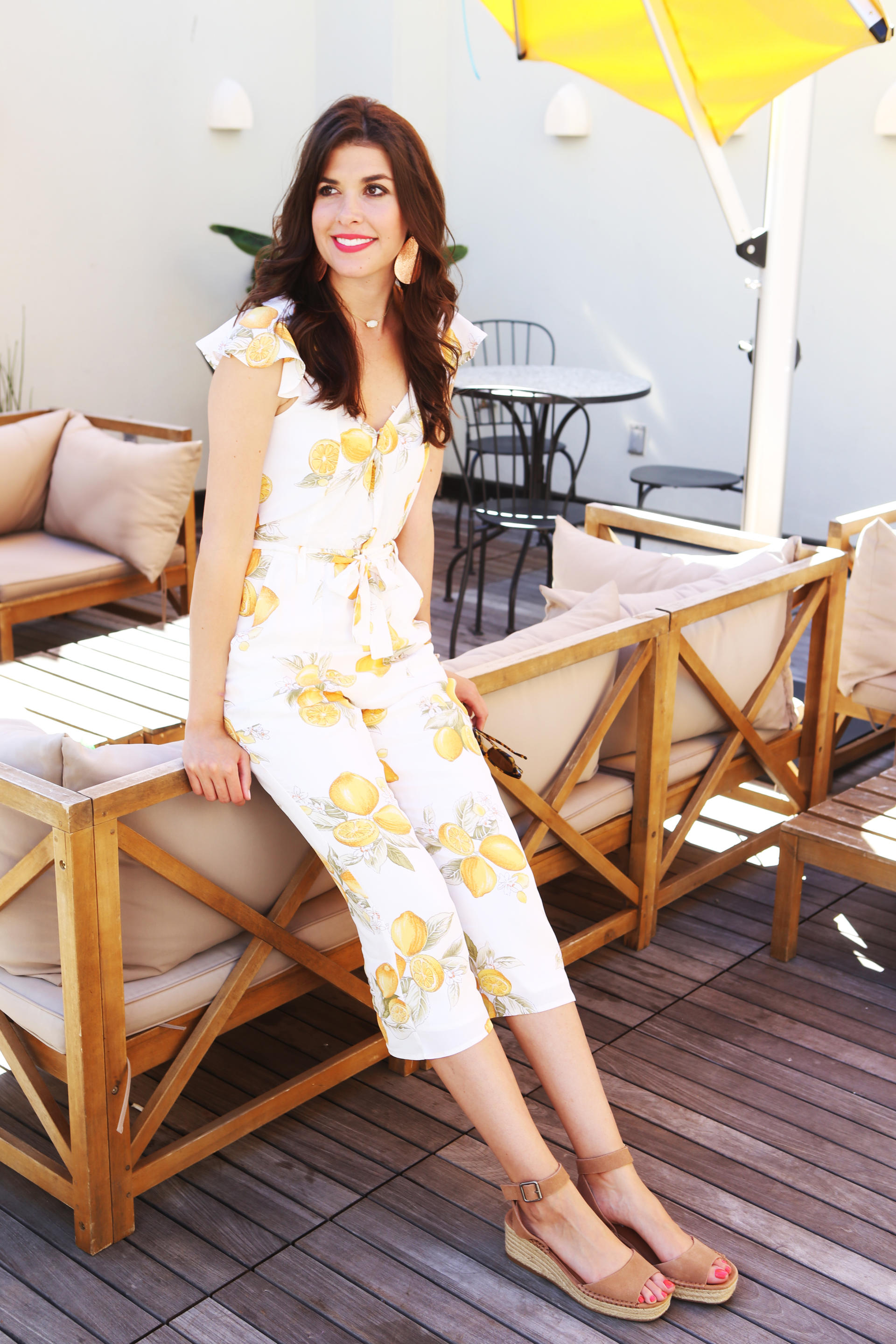 Lemon Print Jumpsuit
