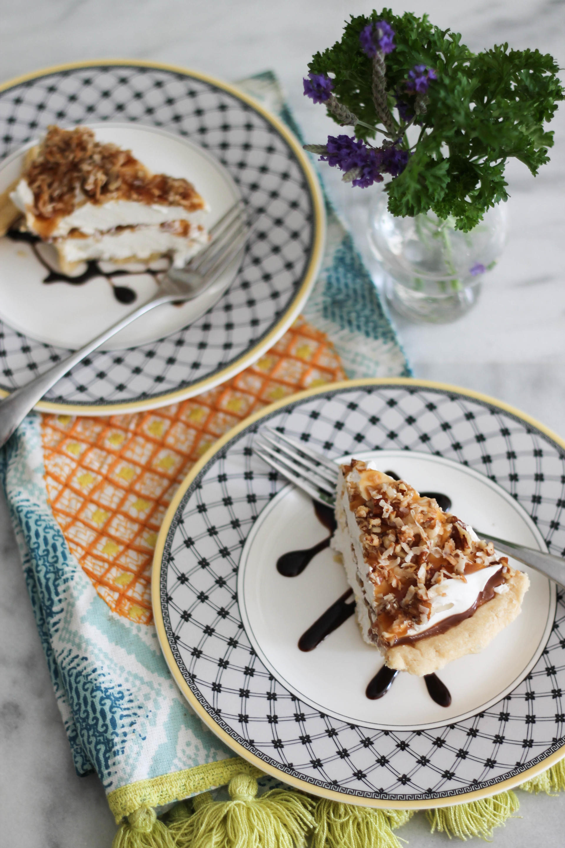 Caramel Pie - A Cream Cheese Caramel Frozen Treat
