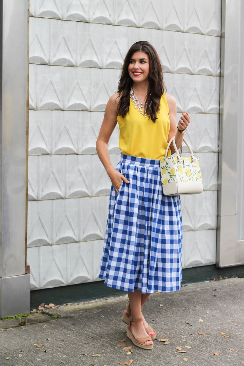 Gingham Skirt by New York fashion blogger Style Waltz