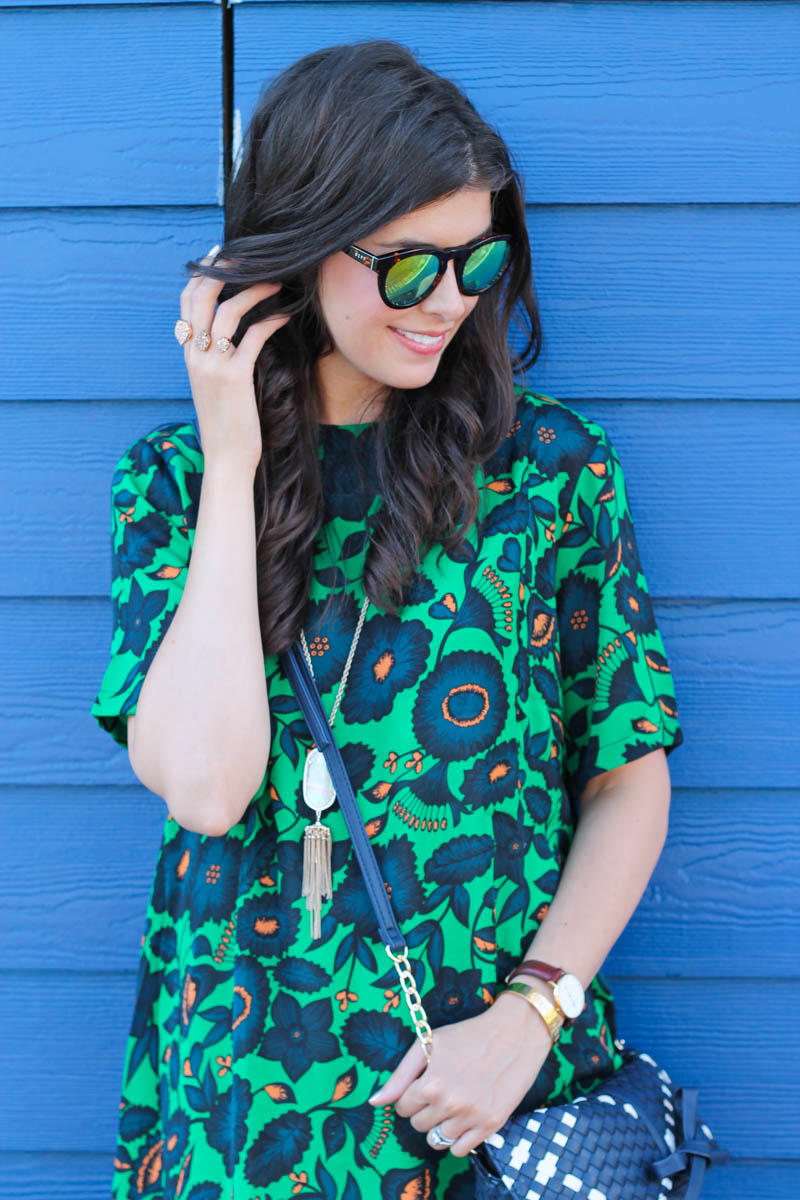 A Green Floral Dress For Summer