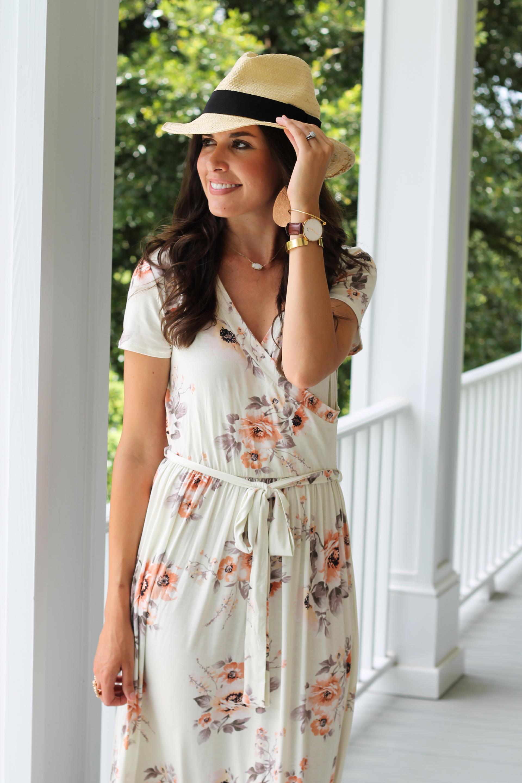 Floral Maxi Dress    Summer Motherhood