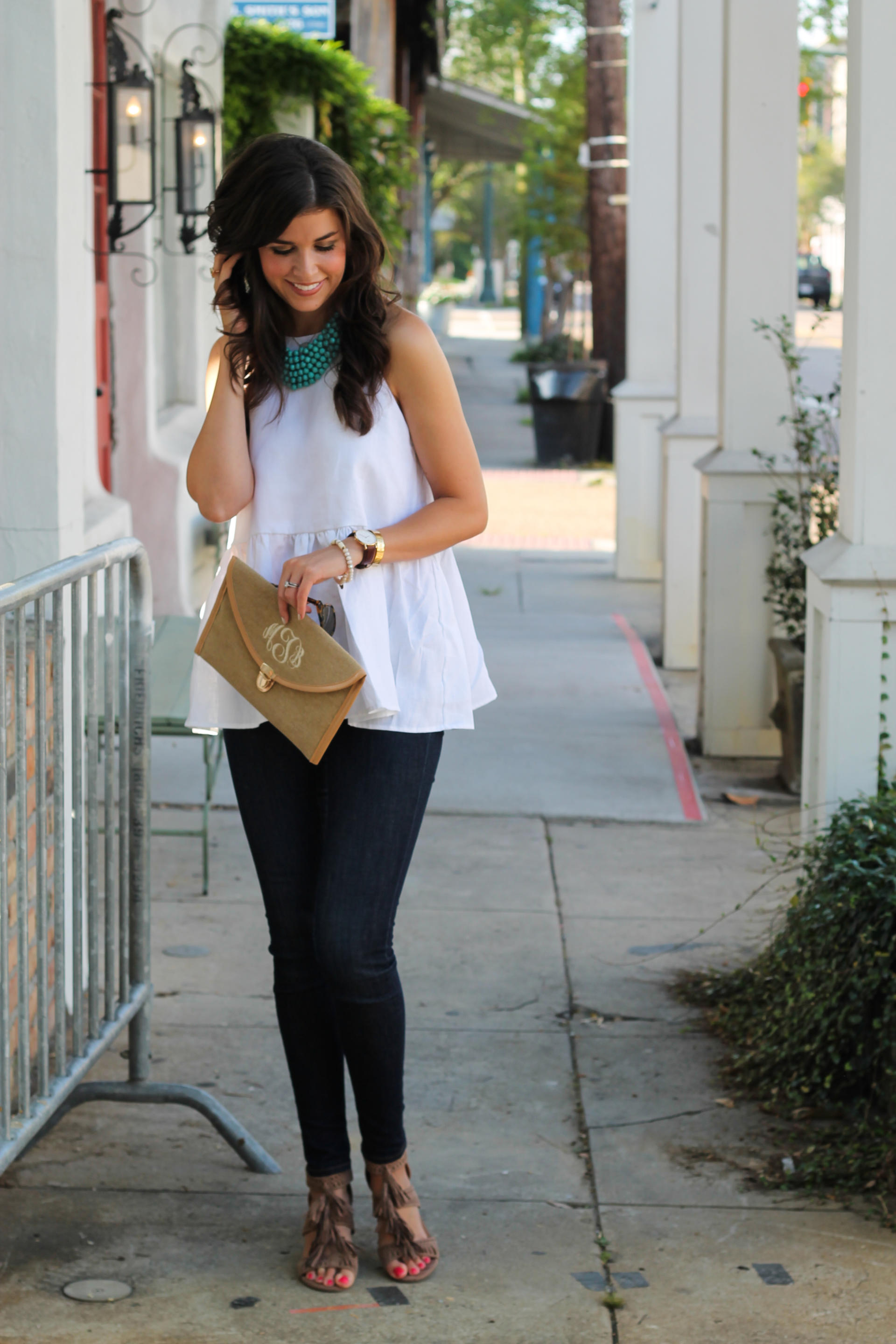 A Perfect Linen Peplum Top For Summer