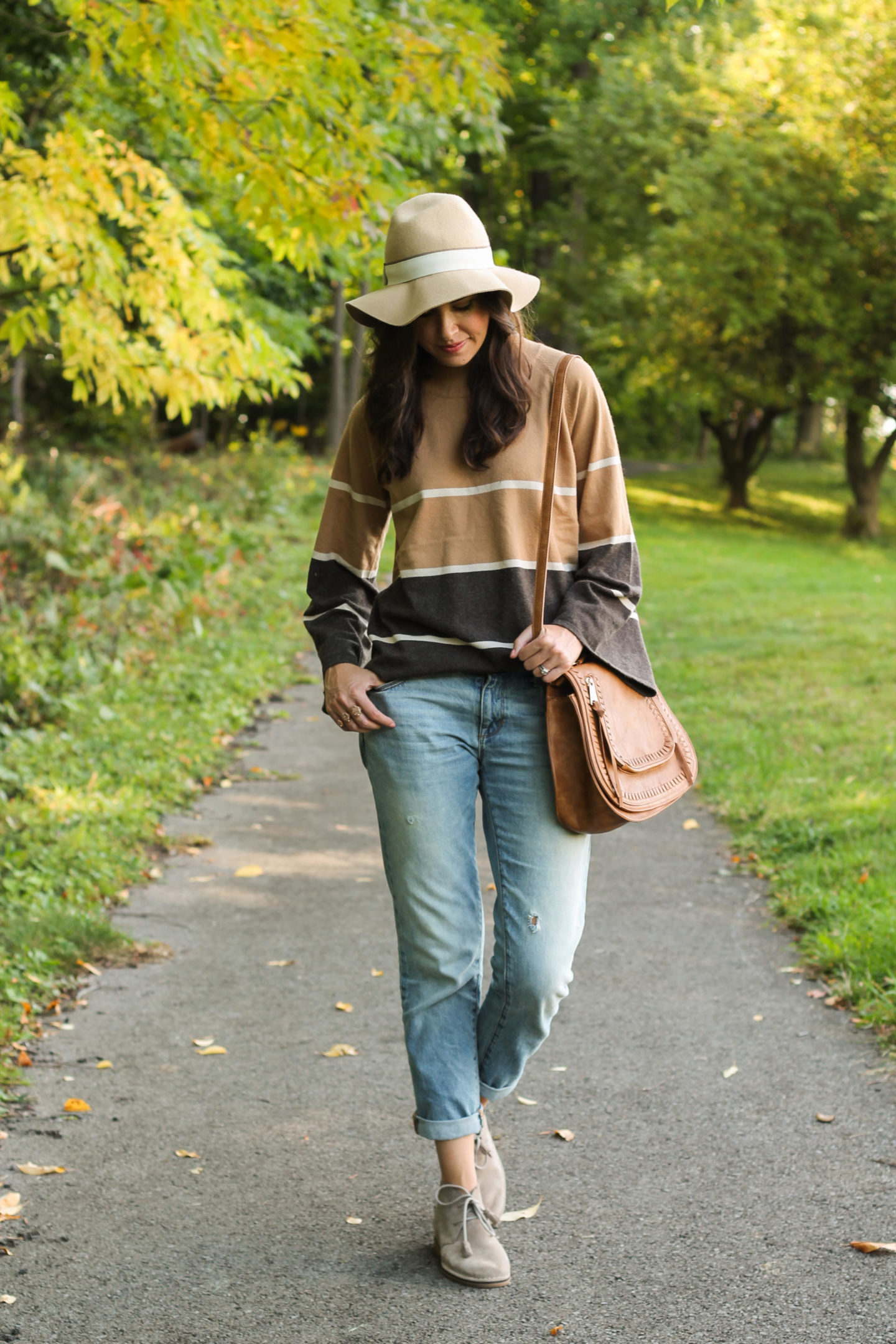 THML Brown Striped Sweater