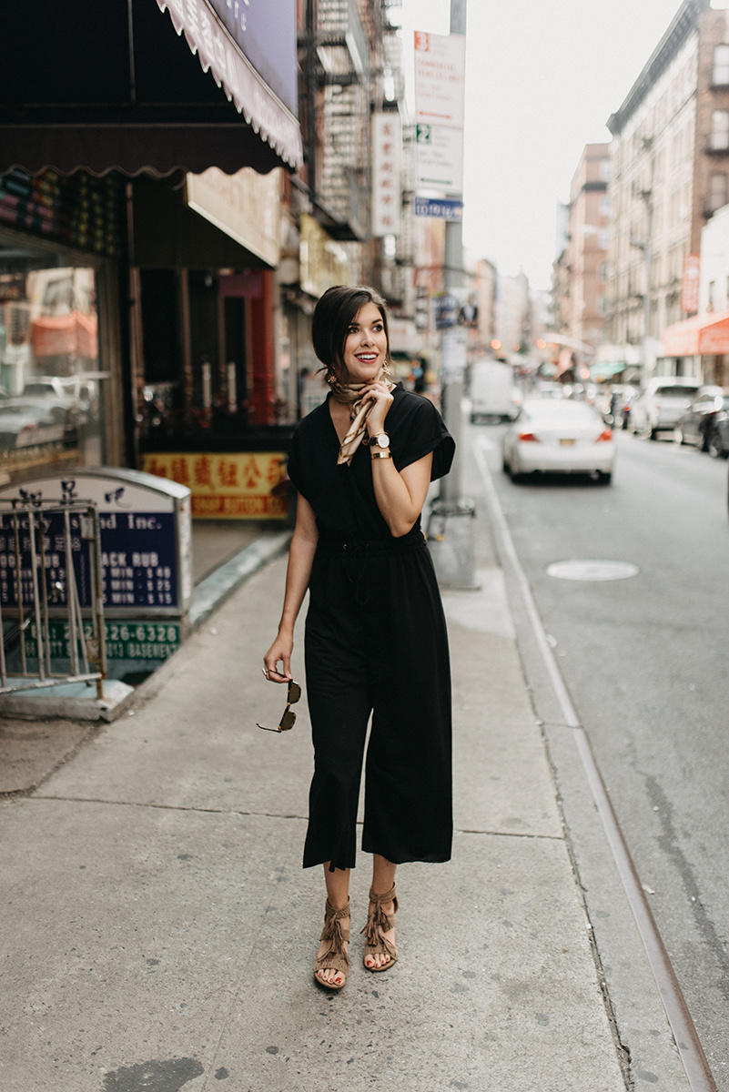 Black Drawstring Jumpsuit + NYFW For Beginners