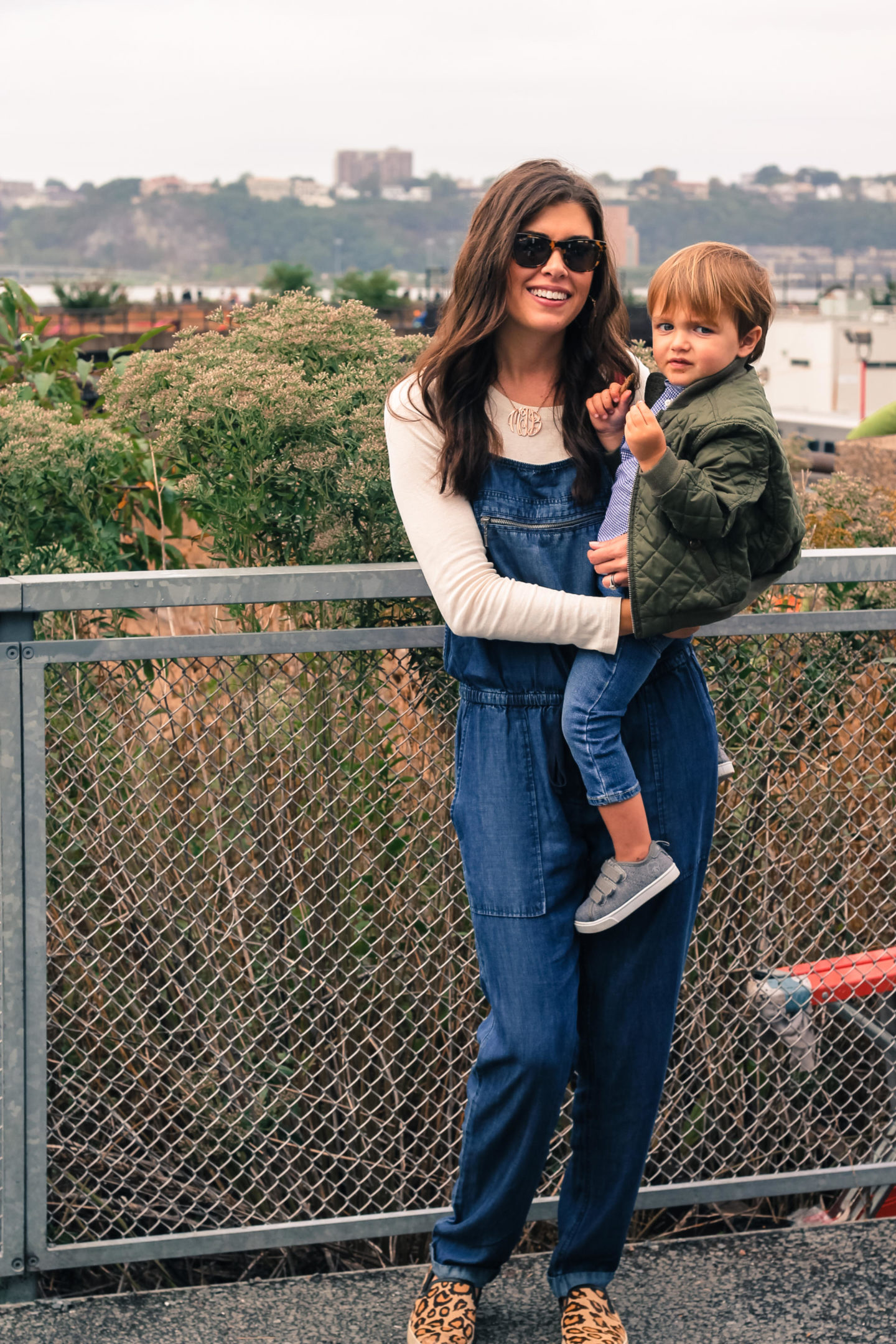 Denim Overalls For Fall by New York fashion blogger Style Waltz