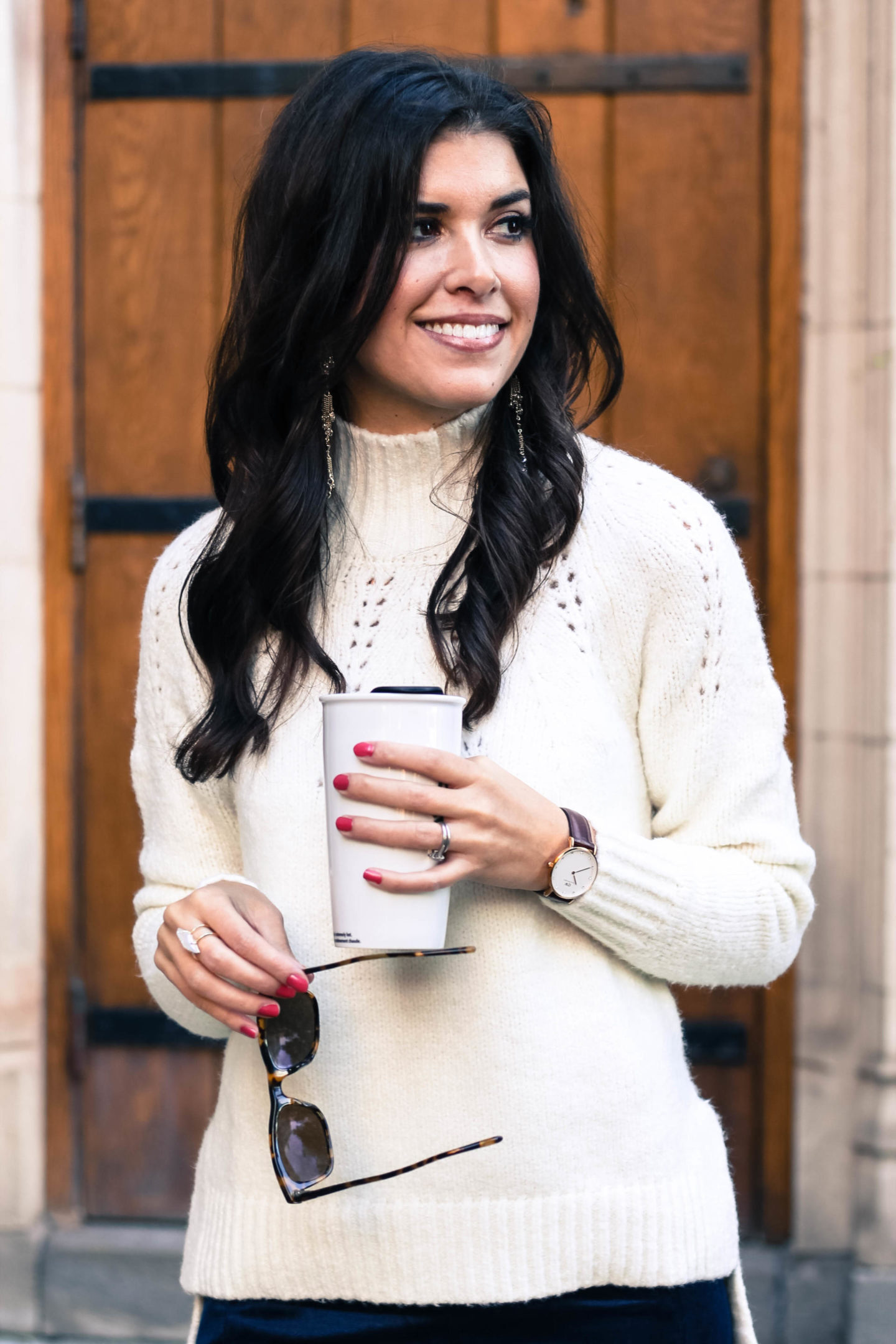 Velvet Pants With Banana Republic - Velvet Pants And A Cozy Sweater With Banana Republic by New York fashion blogger Style Waltz