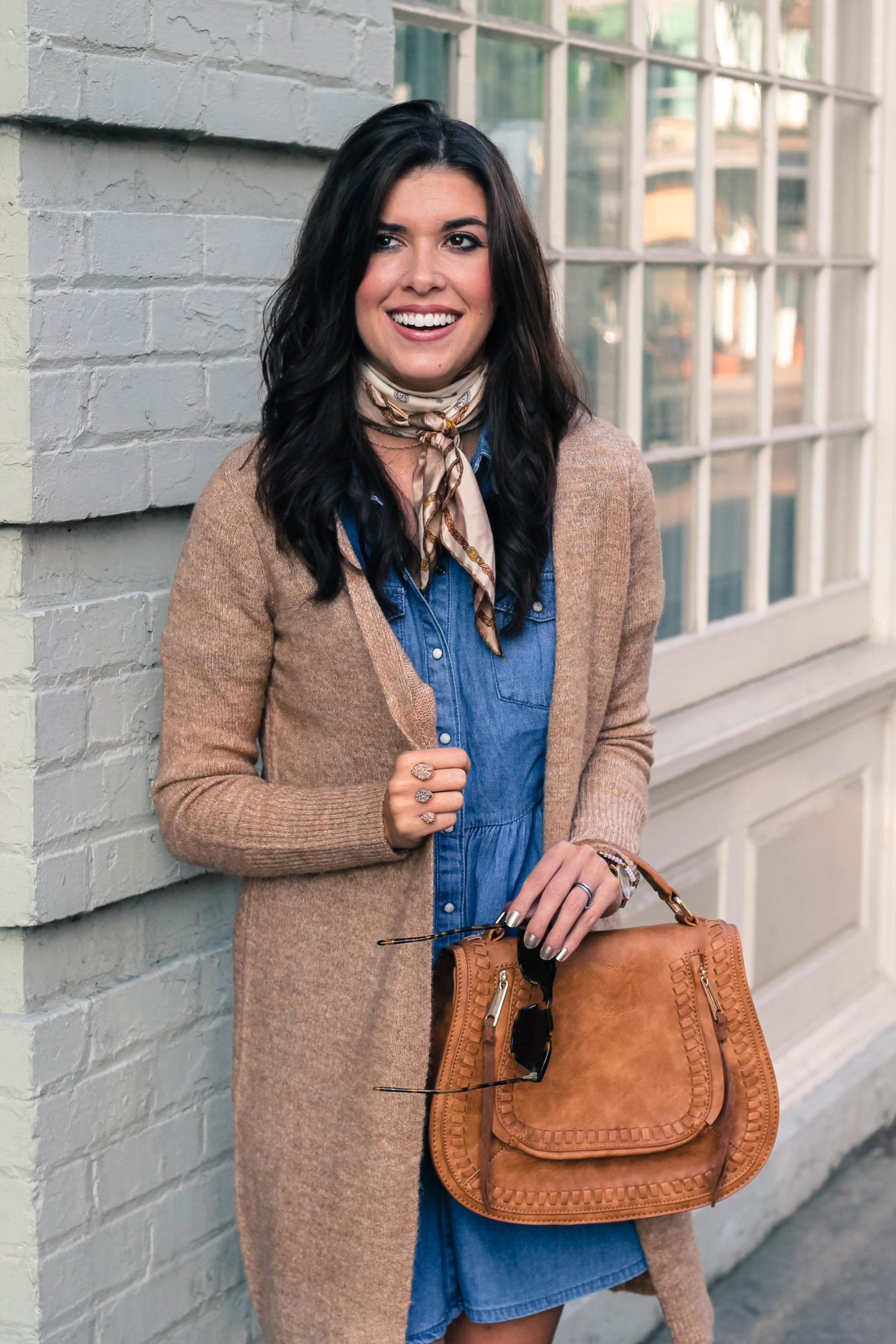 How To Style Your Favorite Fall Chambray Dress