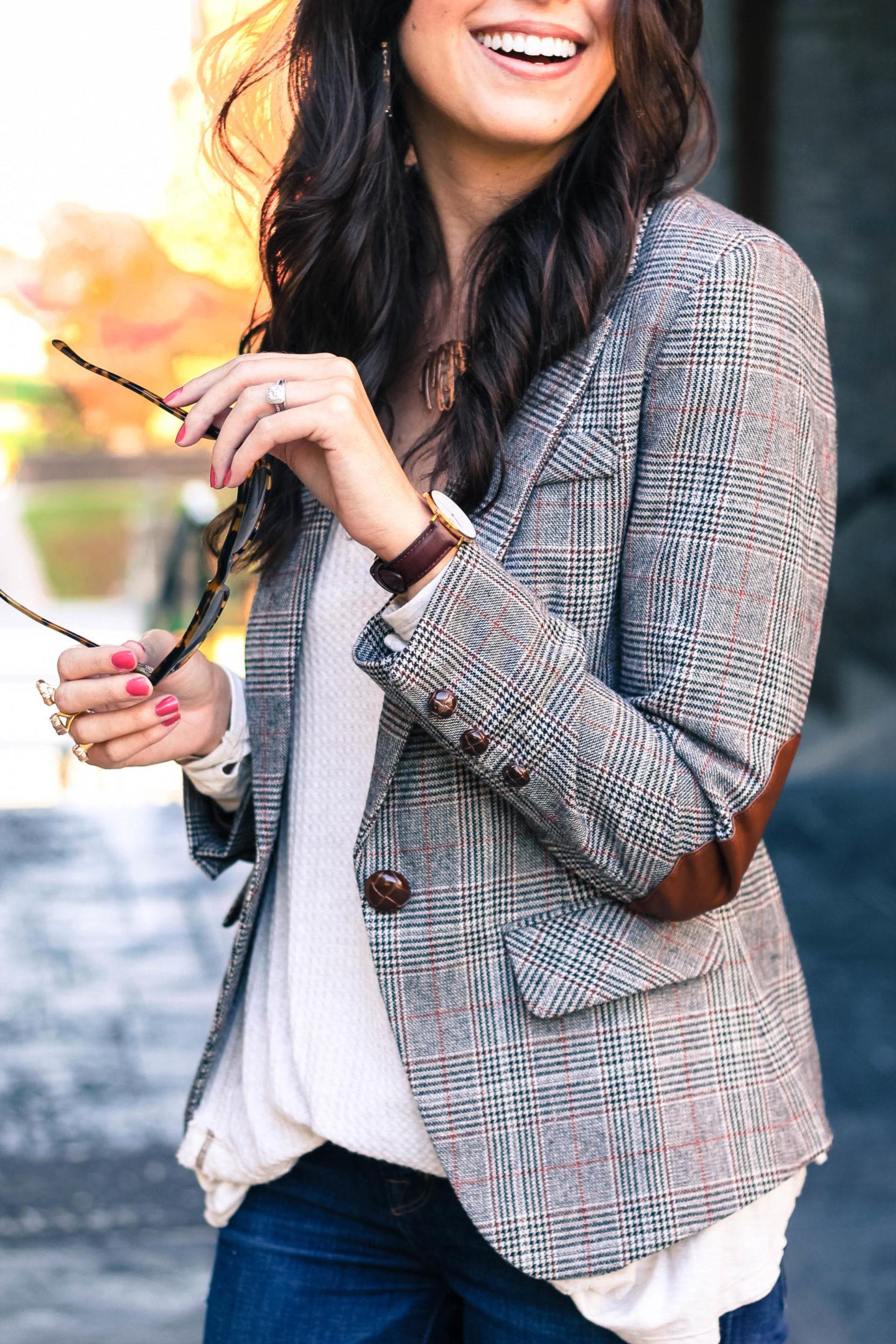 The Plaid Blazer Your Closet Needs by New York fashion blogger Style Waltz