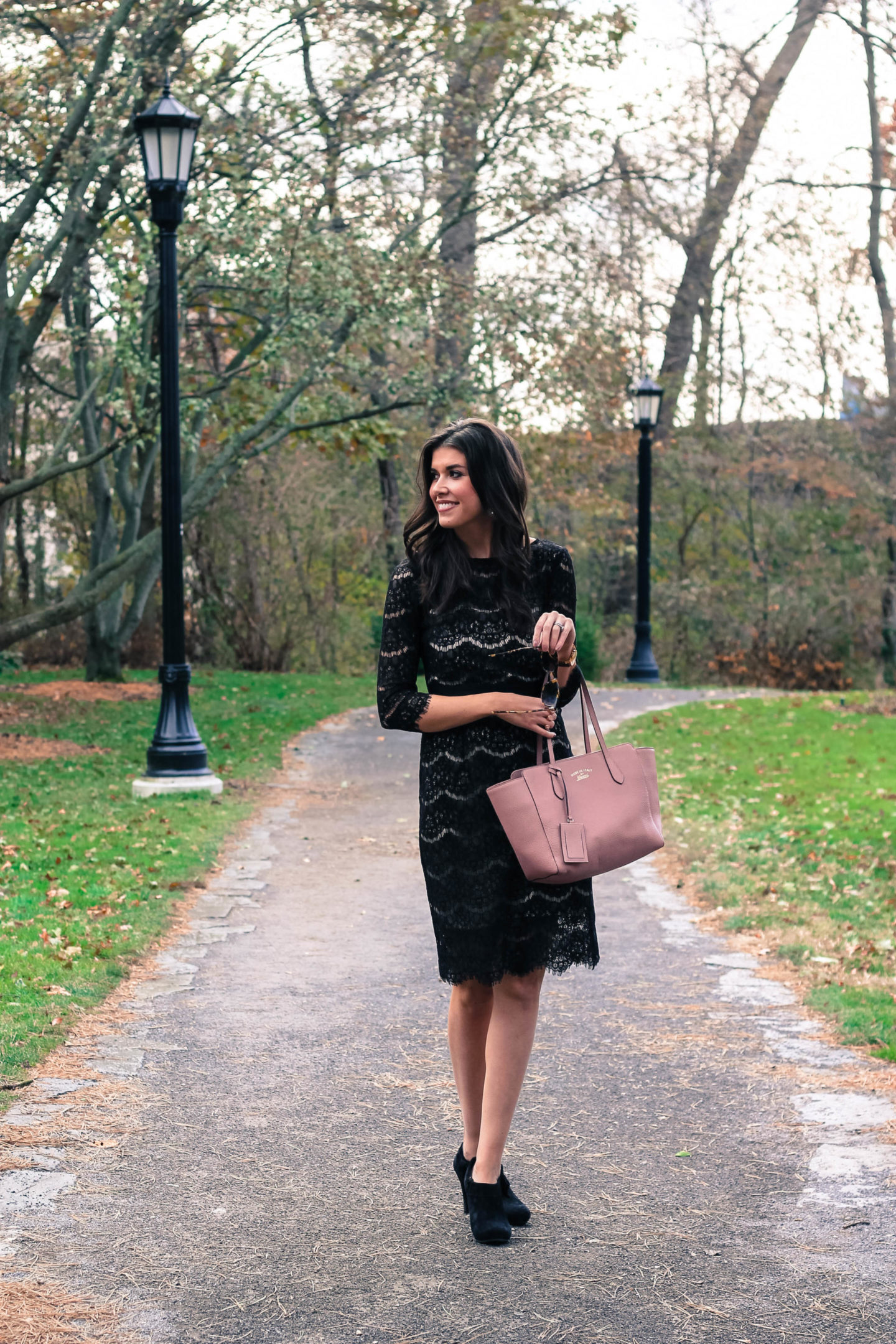 Black Lace Dress From Amazon - The Perfect Black Lace Midi Dress From Amazon by New York fashion blogger Style Waltz