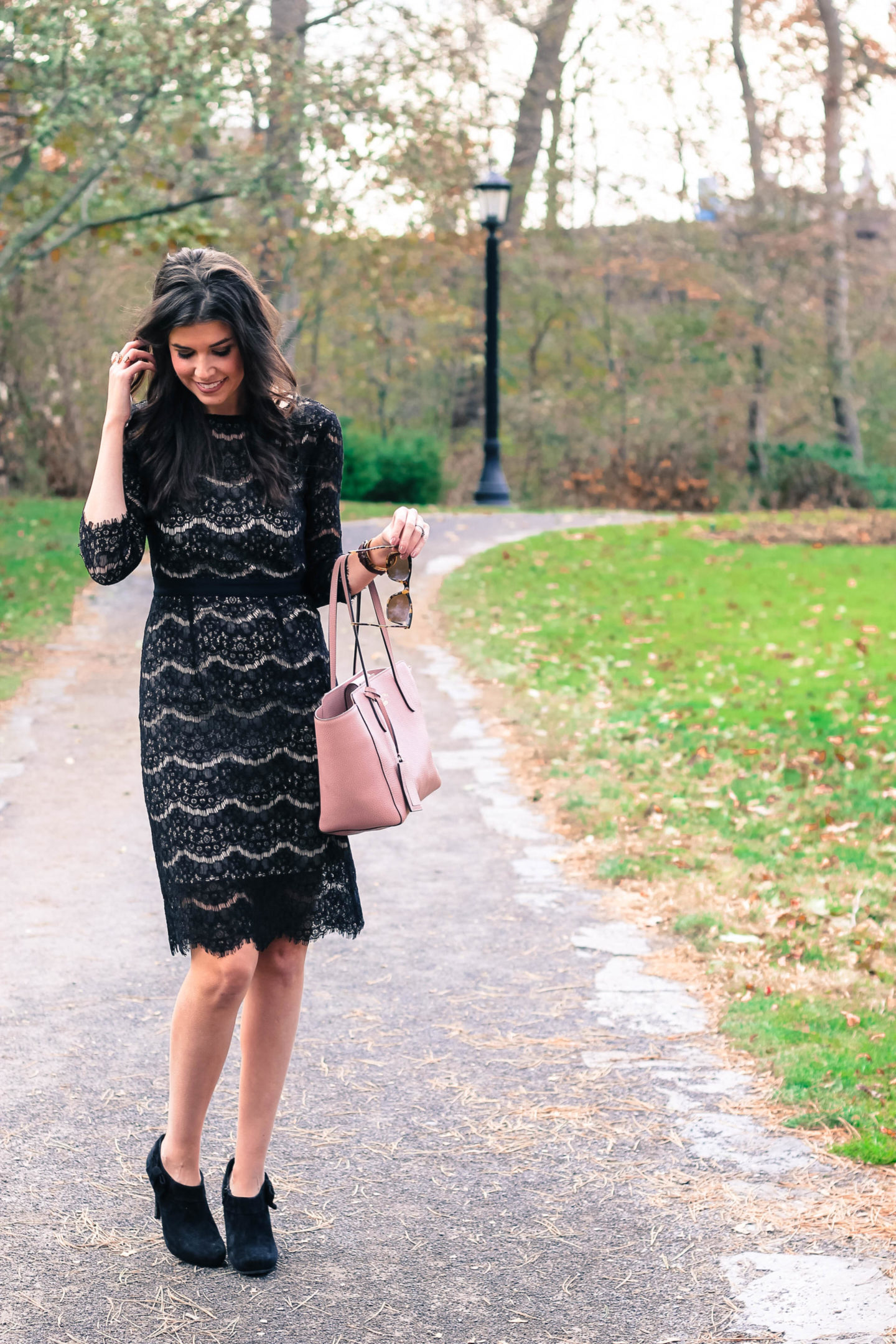 The Perfect Black Lace Midi Dress From Amazon by New York fashion blogger Style Waltz
