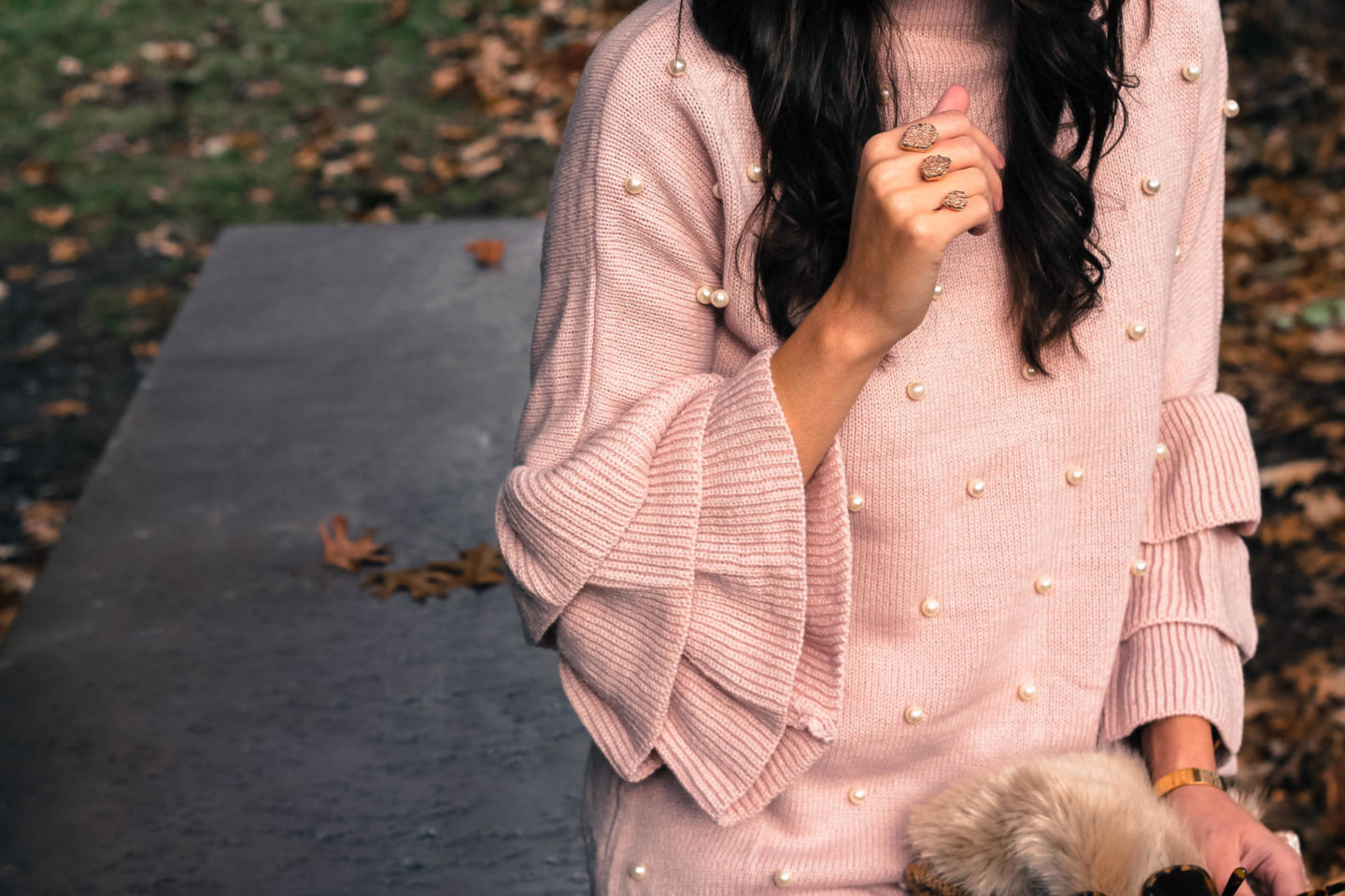 Pearl Embellished Clothing: The Perfect Pearl Studded Sweater - Wear a Pearl Embellished Sweater This Holiday Season by New York fashion blogger Style Waltz