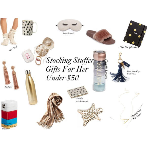Gifts Under $50 For Her: Great Stocking Stuffer Ideas For 2017 - Holiday Gifts For Her Under $50: Awesome Stocking Stuffer Ideas by New York style blogger Style Waltz