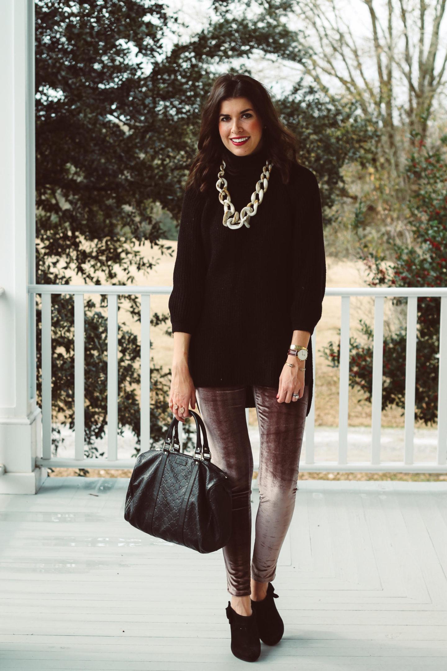 How To Wear Velvet Leggings For Valentine's Day