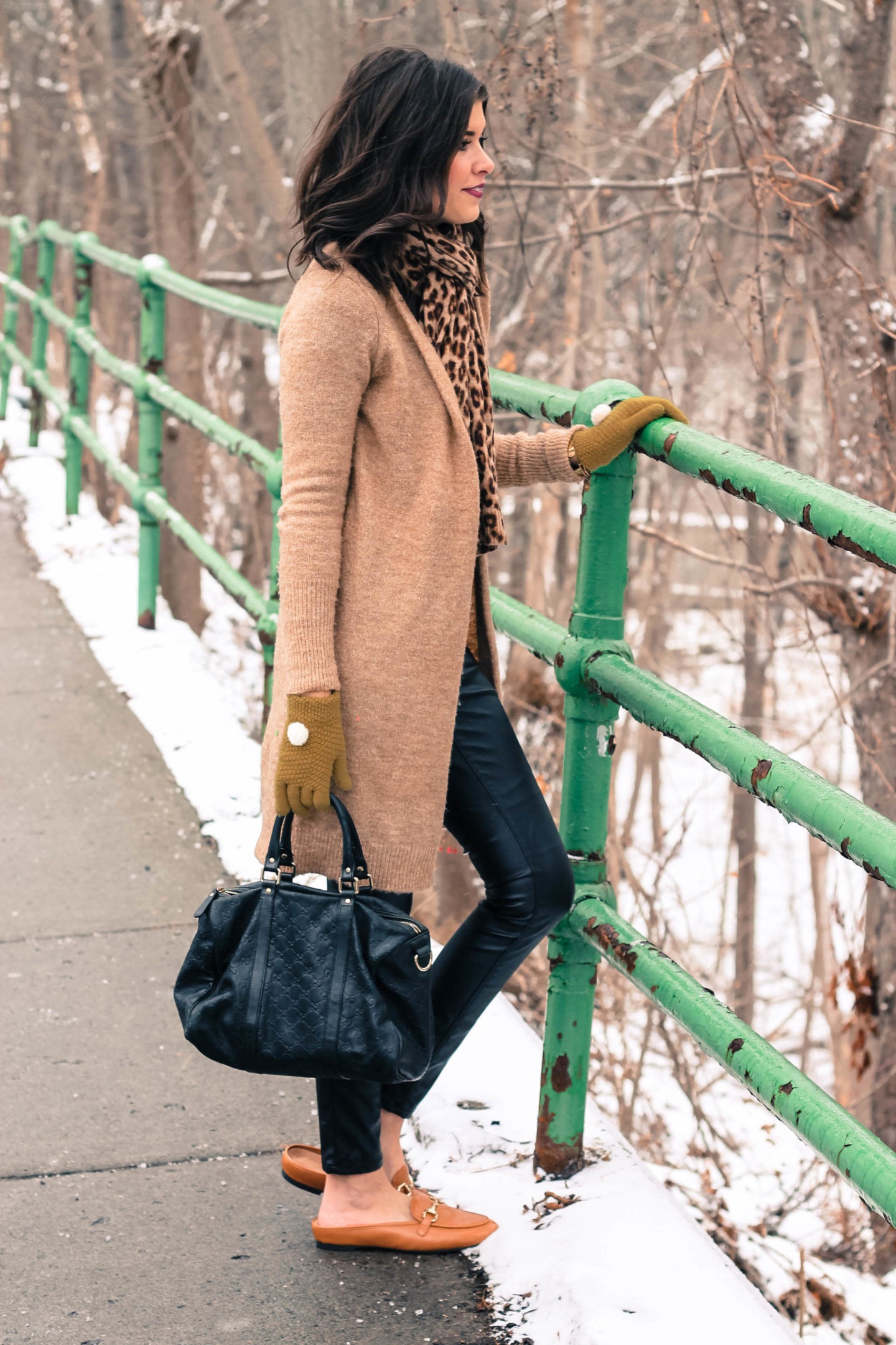 Black And Camel Winter Style
